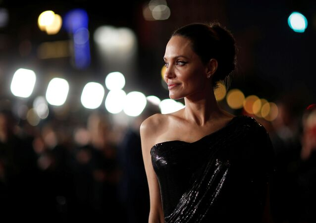 Angelina Jolie na premiéře filmu Maleficent: Lady of Darkness v Los Angeles.