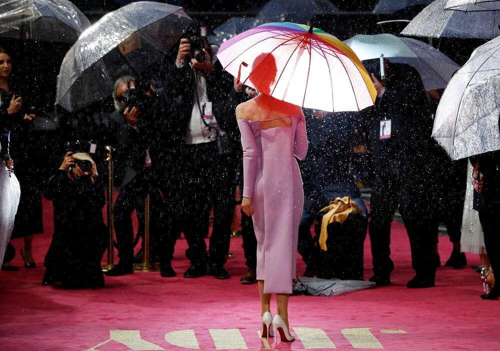Herečka Renée Zellweger na premiéře filmu Judy v Londýně
