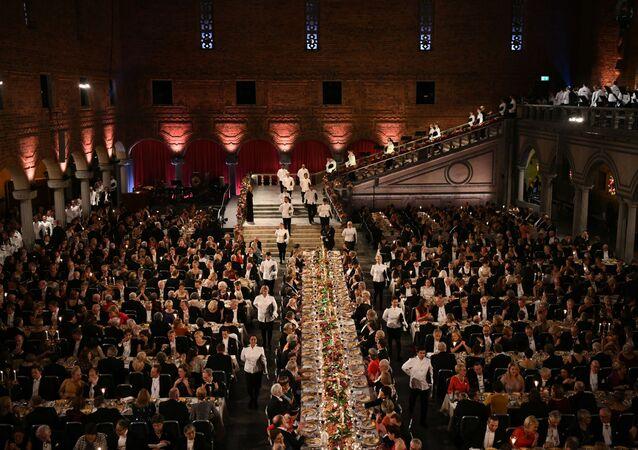 Slavnostní banket Nobelovy ceny ve Stockholmu