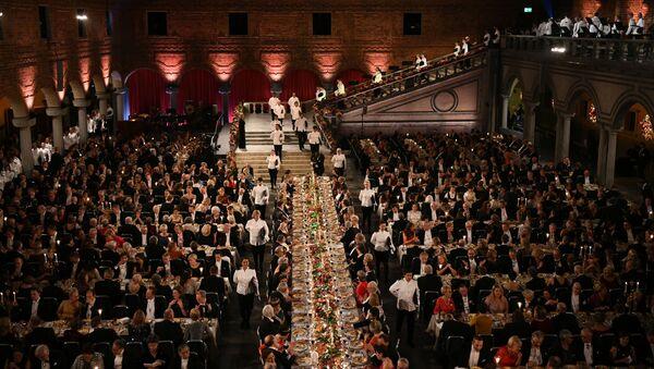 Slavnostní banket Nobelovy ceny ve Stockholmu - Sputnik Česká republika