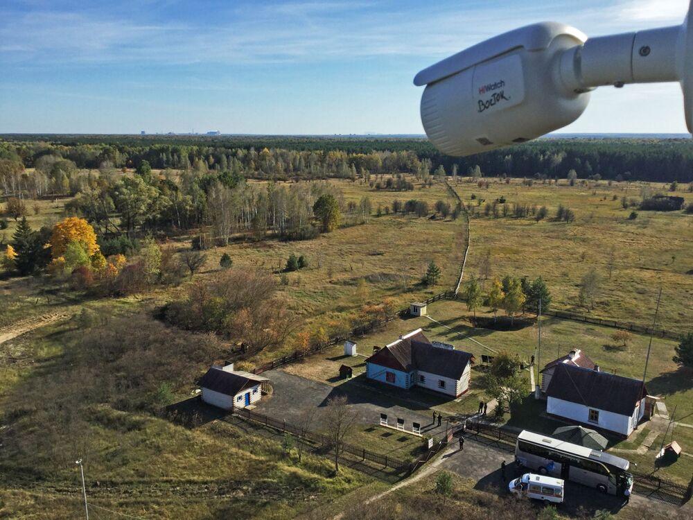 Výzkumná stanice Masany v Poleské státní radiačně-ekologické rezervaci.