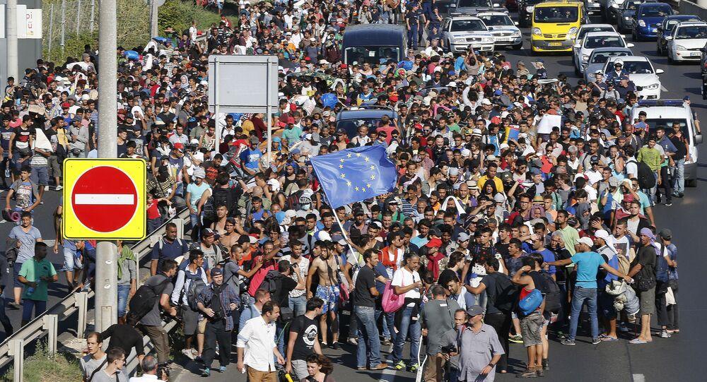 Migranti v Budapešti
