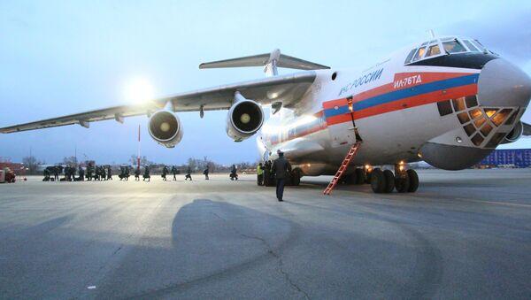 Letadlo Il-76td s humanitární pomocí - Sputnik Česká republika