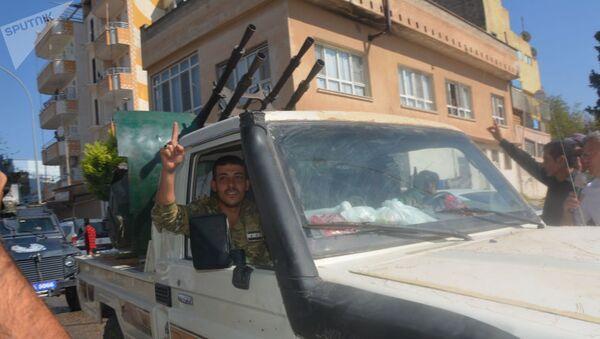 Syrské opoziční jednotky podporované Tureckem - Sputnik Česká republika