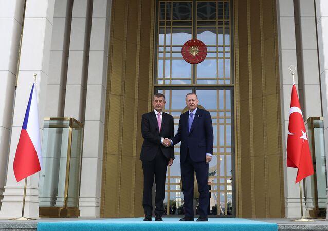 Český premiér Andrej Babiš a turecký prezident Recep Tayyip Erdogan v Ankaře (3. 9. 2019)