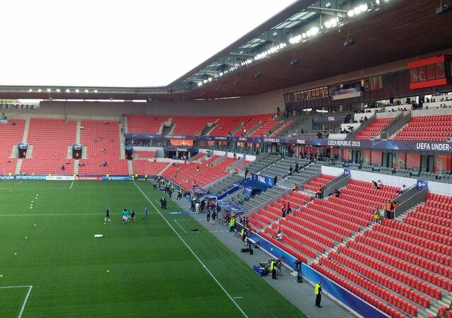 Fotbalový stadion českého klubu Slavia