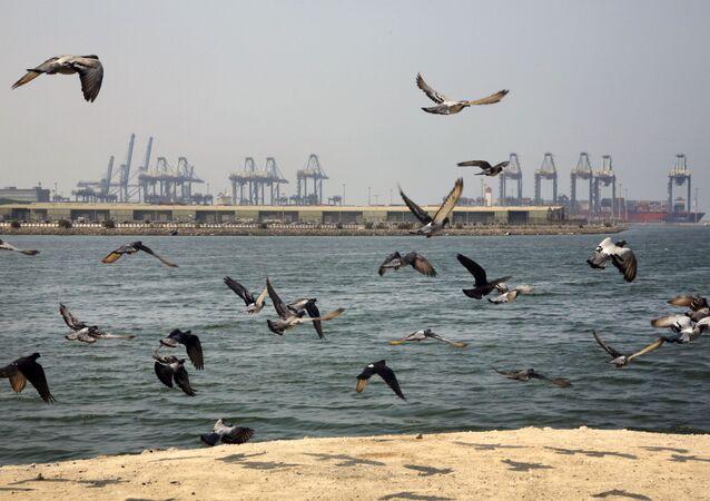 Pobřeží přístavního města Džidda, Saúdská Arábie