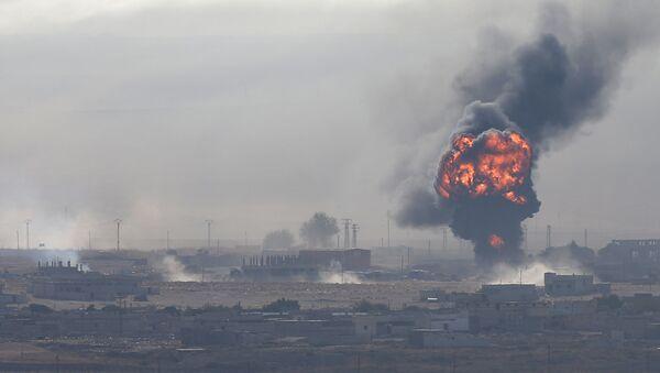 Výbuch ve městě Ras al-Ain v severovýchodní Sýrii - Sputnik Česká republika