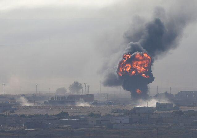 Výbuch ve městě Ras al-Ain v severovýchodní Sýrii