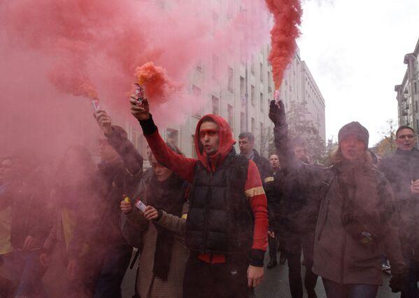 Akce nacionalistů na Ukrajině - Sputnik Česká republika