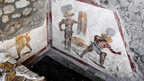 Freska nalezená v Pompejích - Sputnik Česká republika