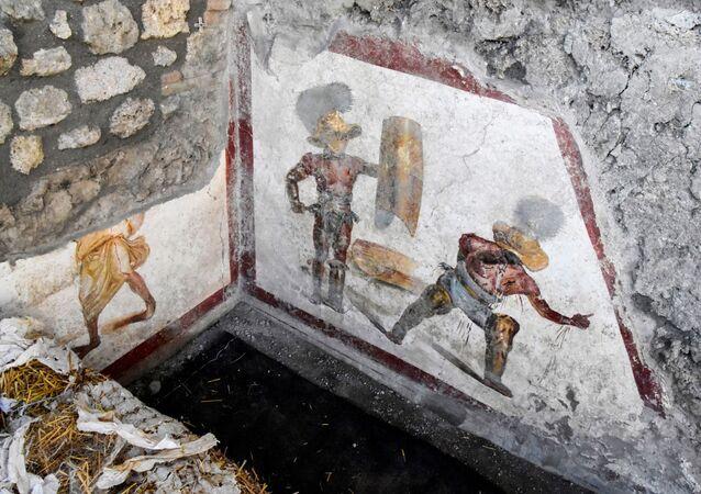Freska nalezená v Pompejích