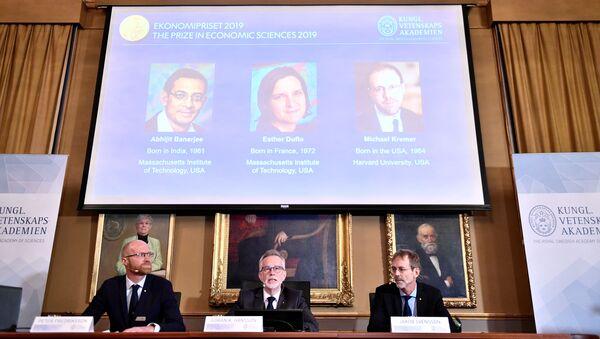 Vyhlášení vítězů Nobelovy ceny za rok 2019  - Sputnik Česká republika