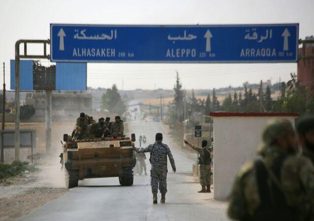 Turecká armáda se spojenci v Sýrii