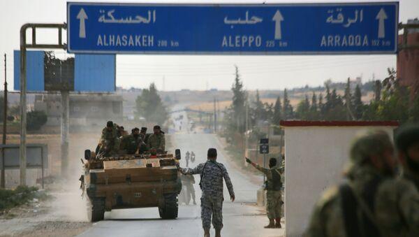Turecká armáda se spojenci v Sýrii - Sputnik Česká republika