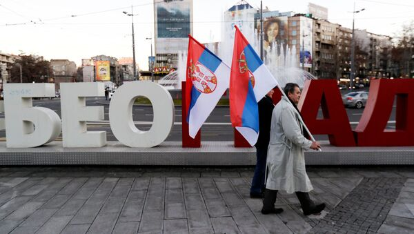 Obyvatelé v Bělehradě - Sputnik Česká republika