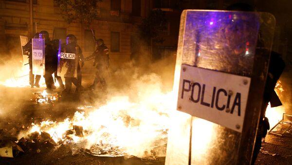 Protesty v Katalánsku  - Sputnik Česká republika
