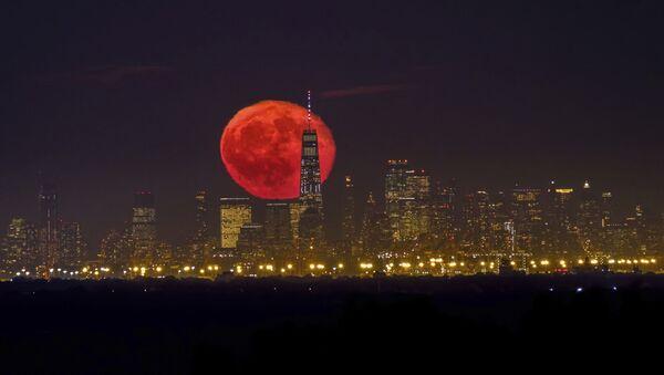Měsíc, Manhattan, úterý 15. října 2019. - Sputnik Česká republika