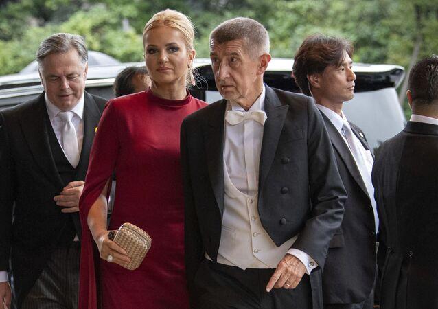 Předseda vlády Andrej Babiš se svou manželkou Monikou v Japonsku