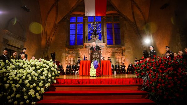 Slavnostní ceremoniál udílení státních vyznamenání ve Vladislavském sále Pražského hradu  - Sputnik Česká republika
