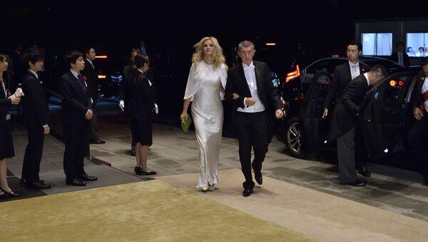 Český premiér Andrej Babiš a jeho manželka Monika - Sputnik Česká republika