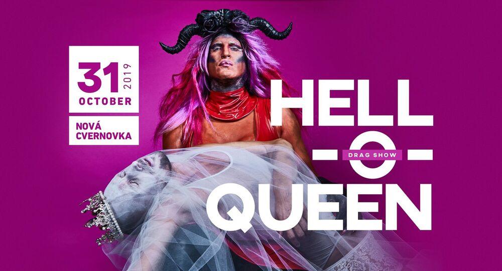 Reklama Drag Show Hell-o-queen 2019 na Slovensku