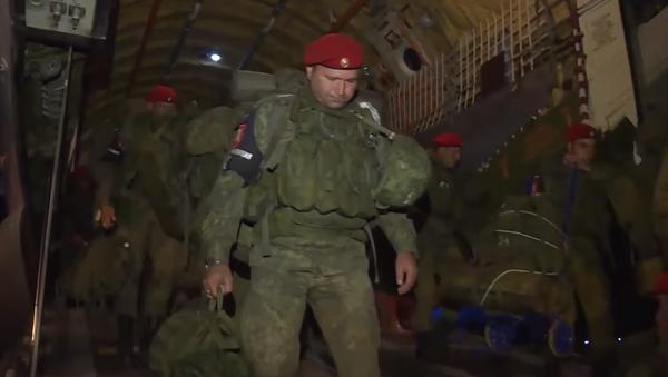 Video příletu ruských vojenských policistů do Sýrie se dostalo na internet - Sputnik Česká republika