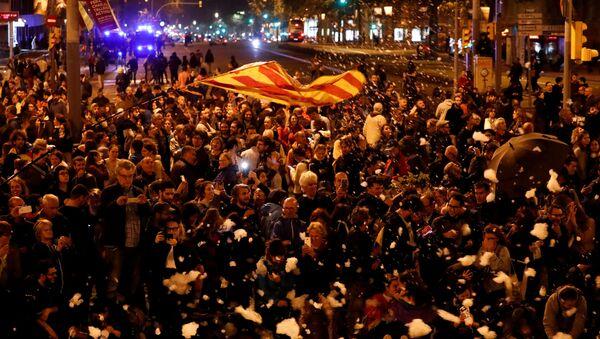 V Barceloně znovu začaly protestní akce - Sputnik Česká republika