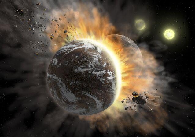 Srážka exoplanet