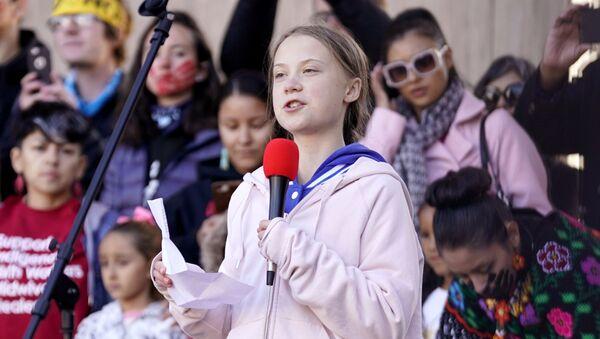 Projev Grety Thunbergové v Denveru, USA (11. 10. 2019) - Sputnik Česká republika