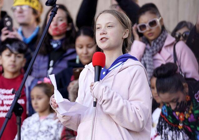 Projev Grety Thunbergové v Denveru, USA (11. 10. 2019)