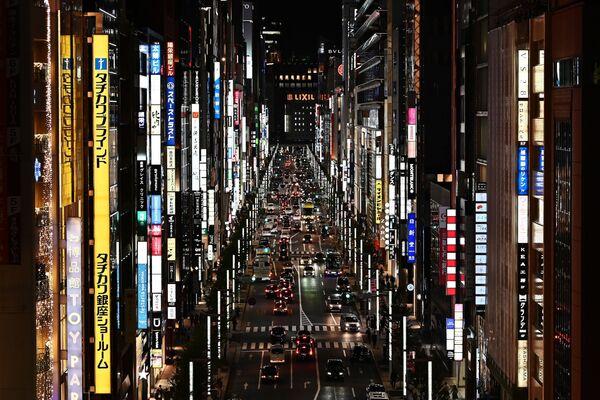 Pohled na luxusní městskou část Ginza v Tokiu.  - Sputnik Česká republika