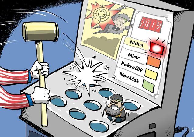 """Karikatura Další """"smrt"""" vůdce Islámského státu"""