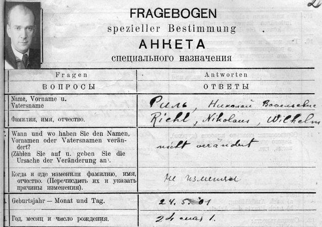 List ze zvláštního dotazníku Nikolausa Riehla