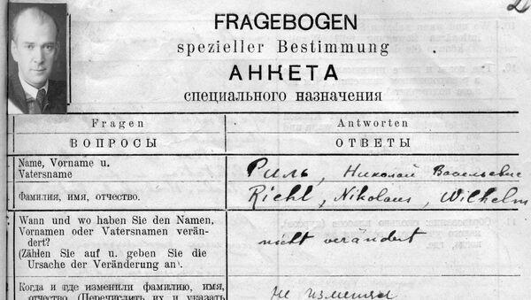 List ze zvláštního dotazníku Nikolausa Riehla - Sputnik Česká republika