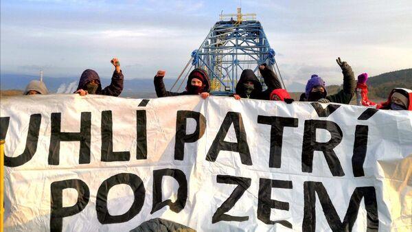 Aktivisté ve Vršanech na Mostecku - Sputnik Česká republika