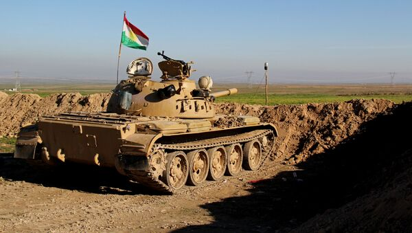 Kurdský tank. Ilustrační foto - Sputnik Česká republika