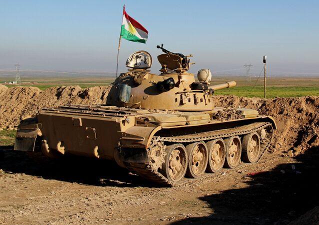 Kurdský tank. Ilustrační foto