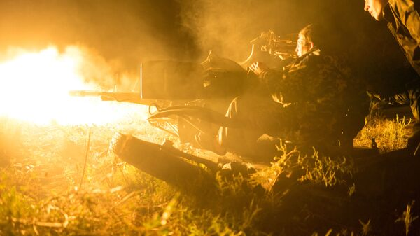 Ukrajinští vojáci u vesnice Avdějevka - Sputnik Česká republika