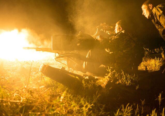 Ukrajinští vojáci u vesnice Avdějevka
