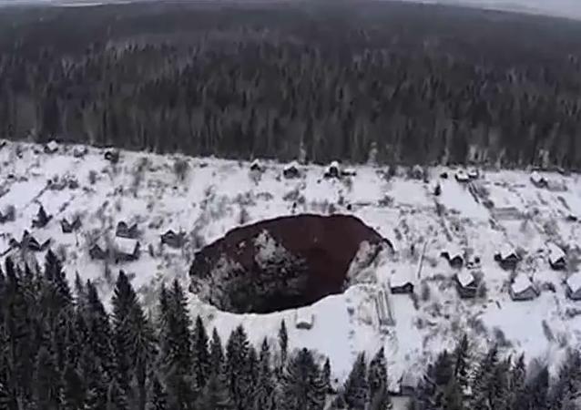 Obrovský závrt na Urale