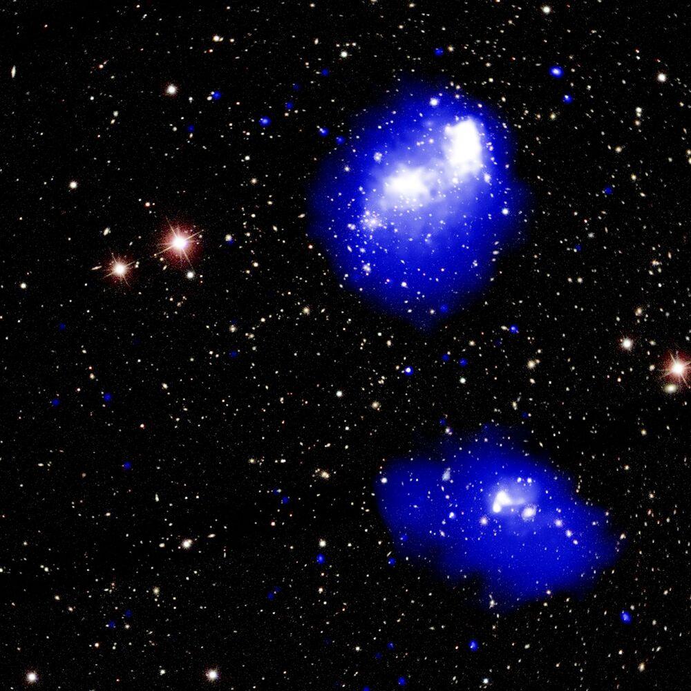 Ojedinělá kolize čtyř shromáždění galaxií.