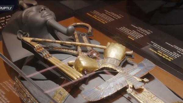 Do Londýna přivezli 150 originálních artefaktů z hrobky faraóna Tutanchamona - Sputnik Česká republika