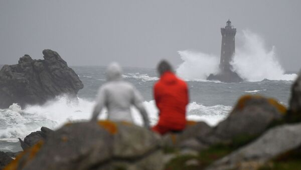 Silný vítr několik hodin před bouři Amélie ve Francii - Sputnik Česká republika