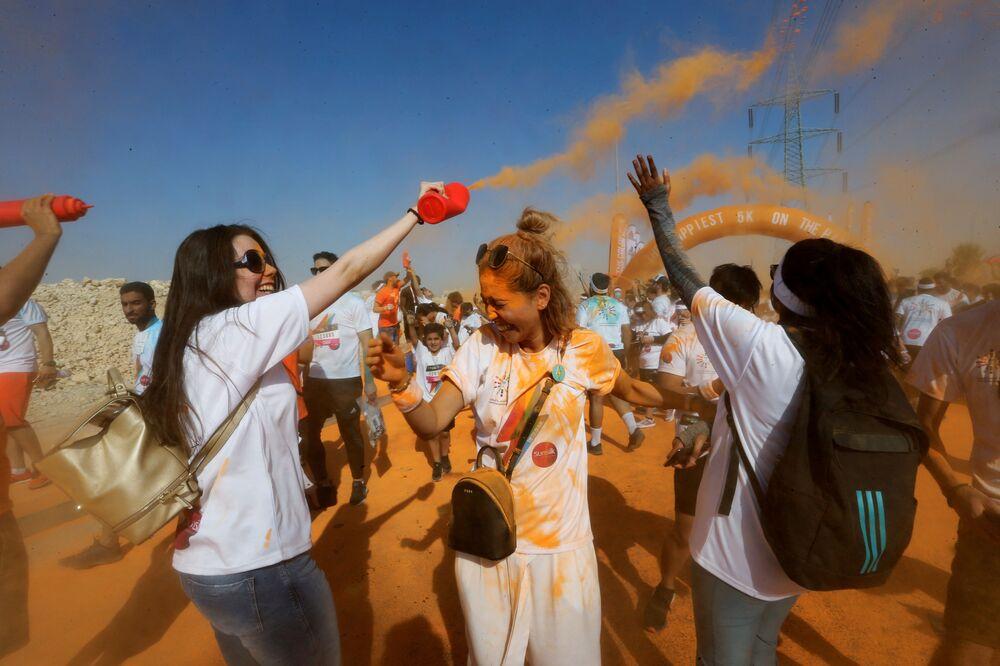 Běh s barvami v Saúdské Arábii (26. 10. 2019)