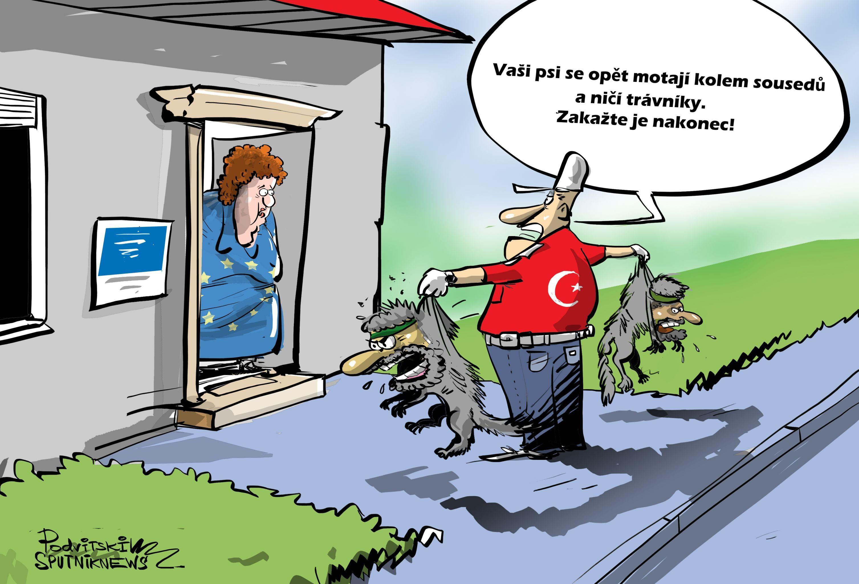 Karikatura Turecko vrátí teroristy IS do EU?