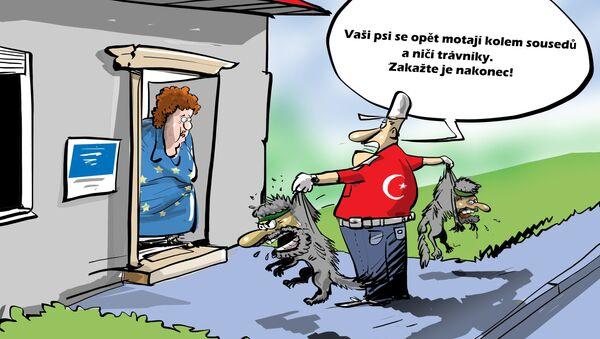 Karikatura Turecko vrátí teroristy IS do EU? - Sputnik Česká republika