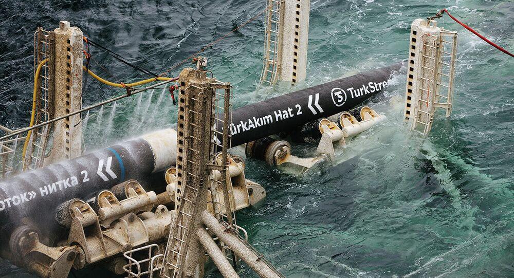 Budování plynovodu Turecký proud