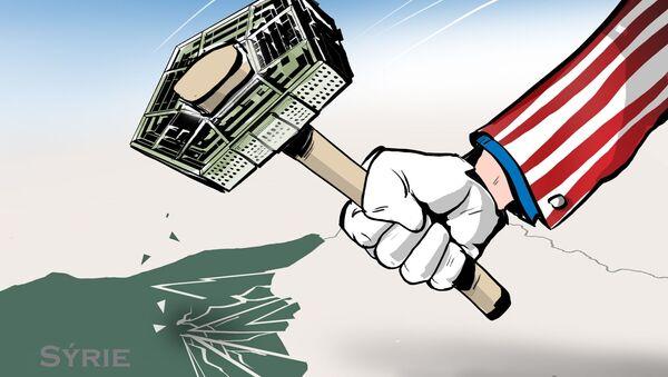 Karikatura Chcete zničit zemi? Vybudujte si americkou základnu! - Sputnik Česká republika