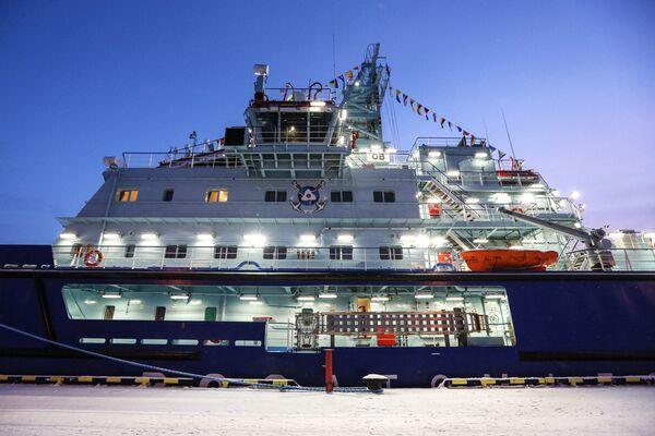 První nejaderný ledoborec Ob v přístavu ve městě Murmansk - Sputnik Česká republika